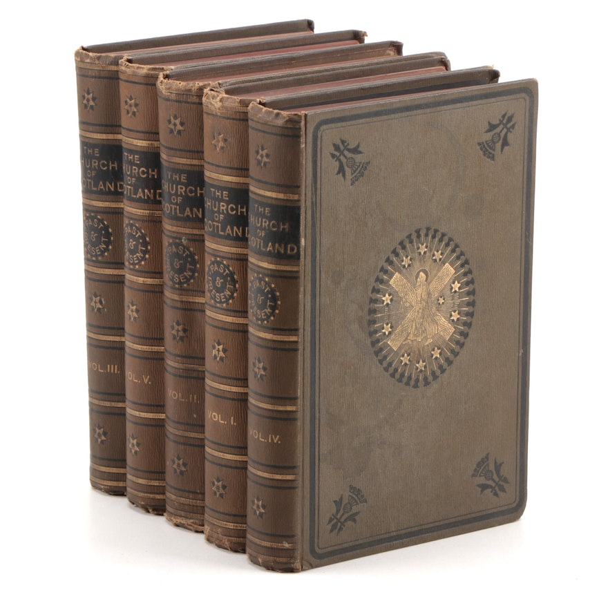 """""""The Church of Scotland"""" Five-Volume Set Edited by Robert Story, 1890"""