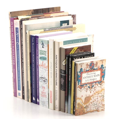 """Antique, Design, and Furniture Books Including """"In the Arts & Crafts Style"""""""