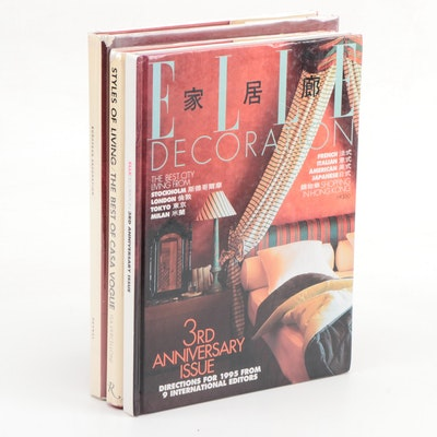 """Interior Design Books Featuring First American Edition """"Styles of Living"""""""
