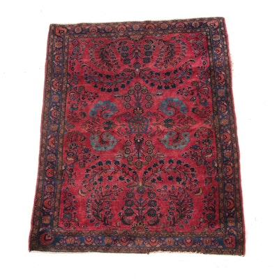 3'6 x 4'11 Hand-Knotted Persian Lilihan Wool Rug
