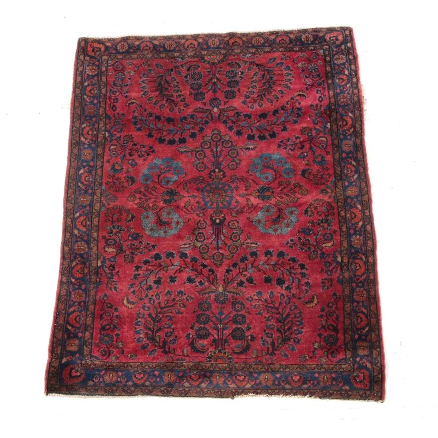 3'6 x 4'11 Hand-Knotted Persian Lilihan Wool Rug