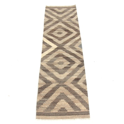 2'5 x 10'0 Handwoven Turkish Village Kilim Runner Rug, 2010s