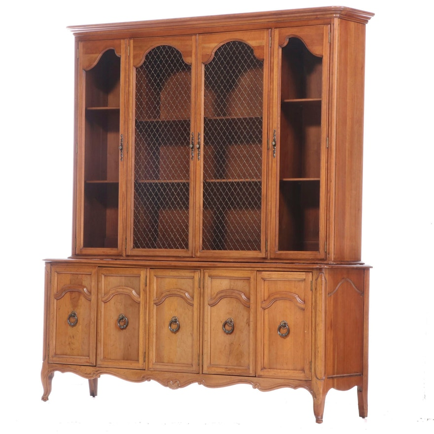 Davis Cabinet Company French Provincial Style Cherrywood China Cabinet