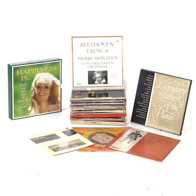 Classical, String, and Other Vinyl Records Including Mozart and Beethoven