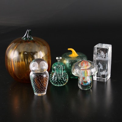 Kosta Boda, Murano and Other Art Glass Paperweights and Figurines
