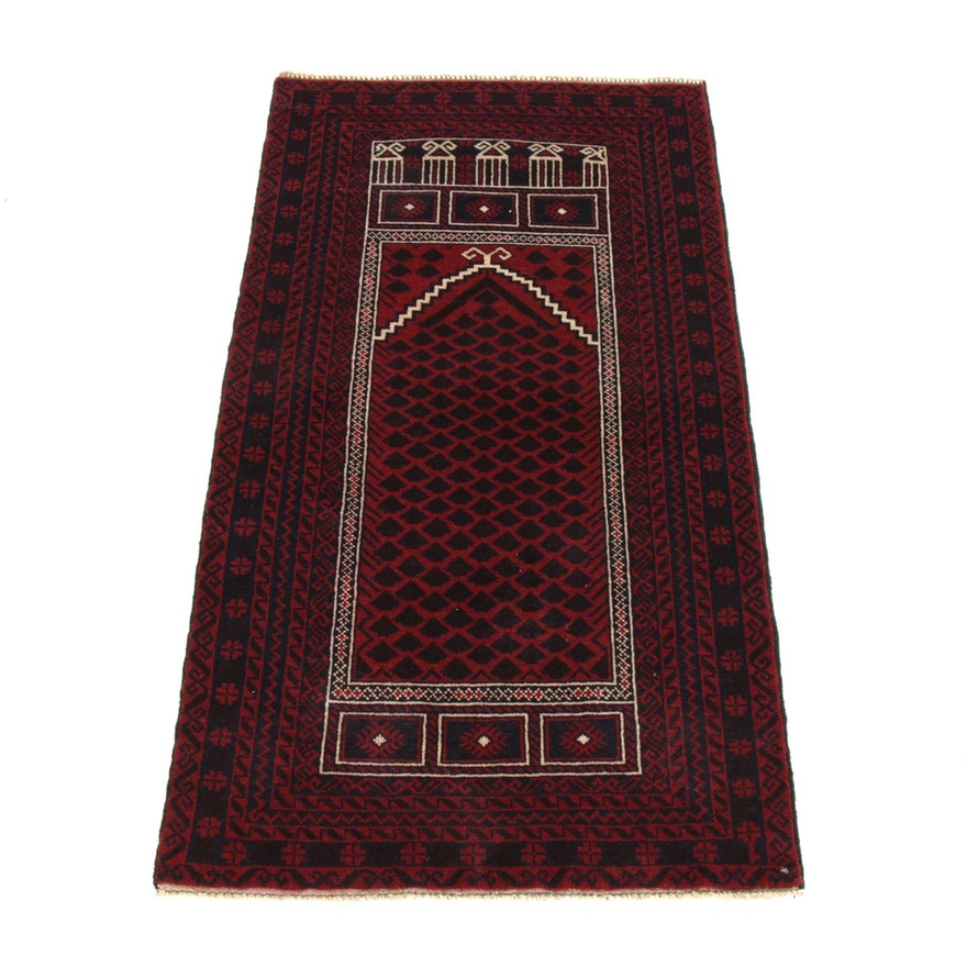 2'10 x 5'1 Hand-Knotted Persian Baluch Rug, 2000s