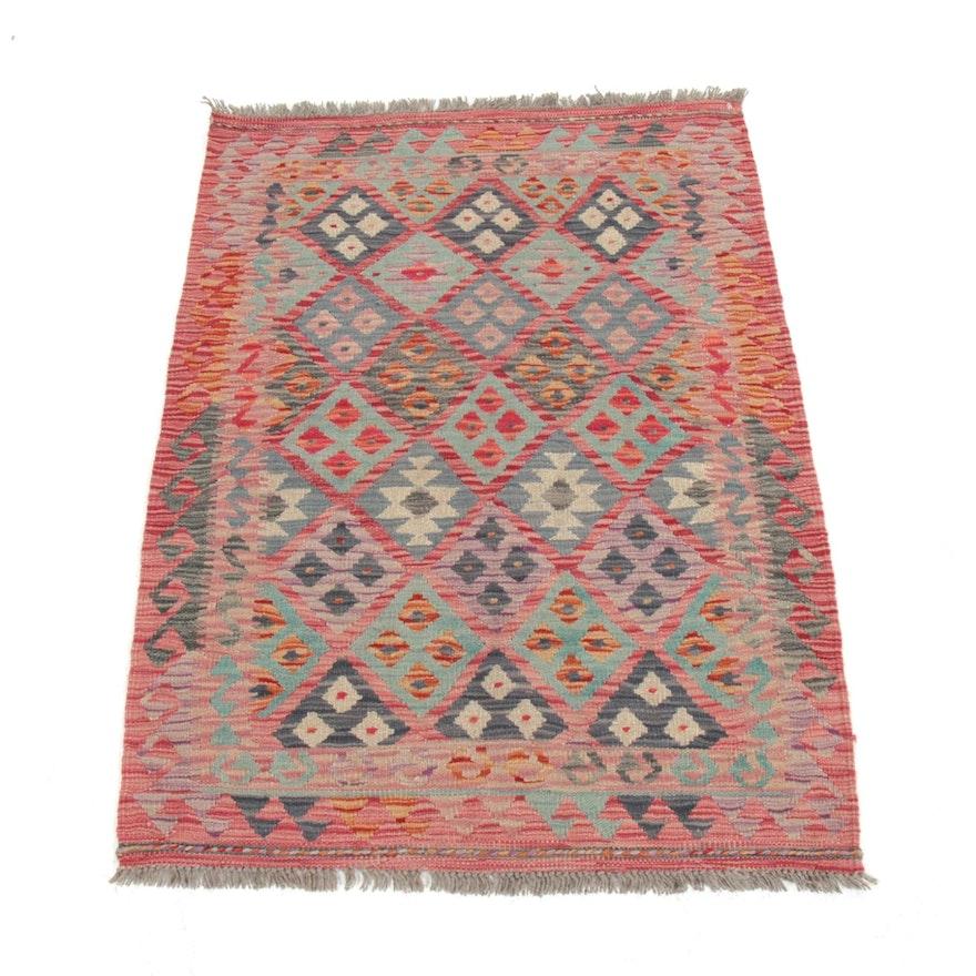 2'11 x 4'3 Hand-Woven Turkish Kilim Rug, 2010s