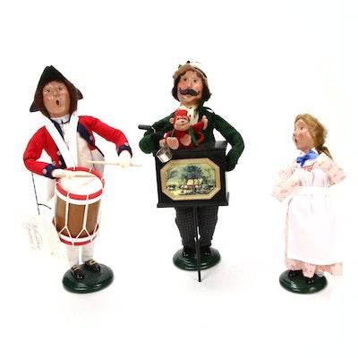 Byer's Choice Williamsburg Dolls with Organ Grinder and Monkey