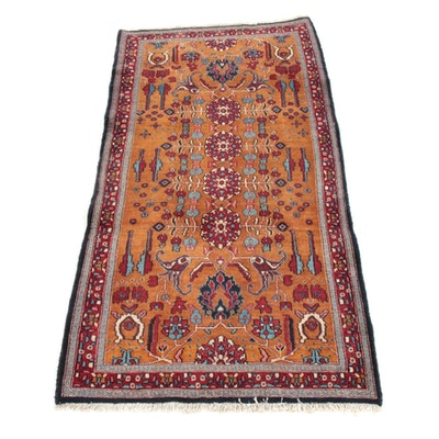 3'5 x 6'6 Hand-Knotted Persian Moud Khorasan Rug, 1970s