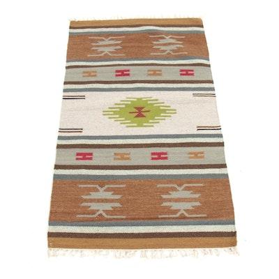 2'10 x 5'3 Hand-Woven Indo-Turkish Kilim Rug, 2000s