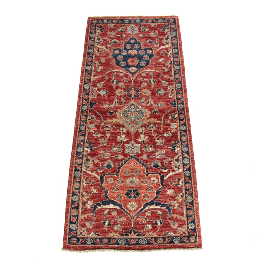 2' x 4'11 Hand-Knotted Afghani Tabriz Runner Rug, 2010s