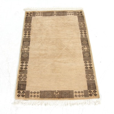 2'7 x 4'5 Hand-Knotted Pakistani Moroccan Rug, 2010s