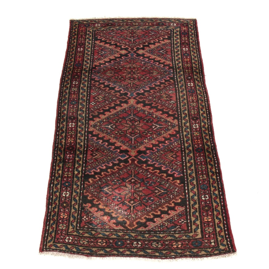 3'5 x 6'6 Hand-Knotted Persian Mahal Rug, 1960s