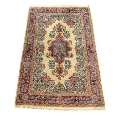 3'0 x 5'0 Hand-Knotted Persian Lavar Kerman Rug, 1930s