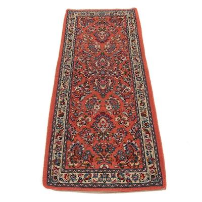 2'8 x 6'6 Hand-Knotted Persian Sarouk Runner Rug, 1980s