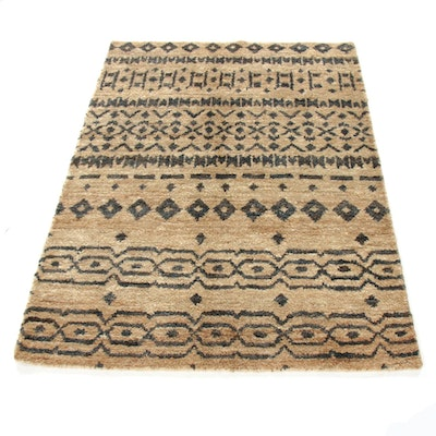 5'0 x 7'0 Hand-Knotted Indo-Moroccan Rug, 2010s
