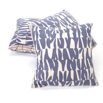 Abstract Print Cotton Canvas Throw Pillows