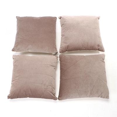Creative Co-op Grey Cotton Velvet Pillows