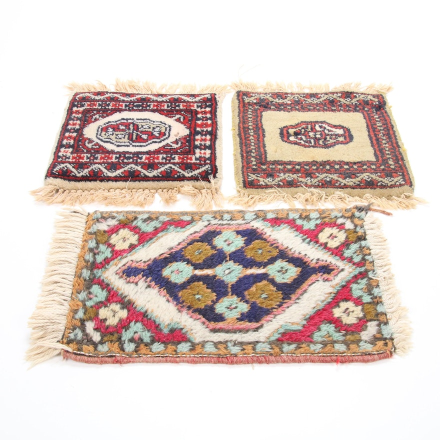 1' x 1'2-1' x 1'8 Hand-Knotted Salesman Sample Rugs Including Pakistani Bokhara
