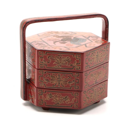 Chinese Lacquer Stacking Wedding Box