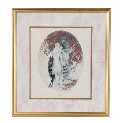 "Offset Lithograph after Louis Icart ""Secrets"""