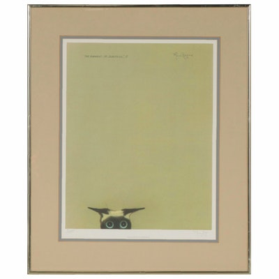 "Mona Royer Offset Lithograph ""The Element of Surprise"""