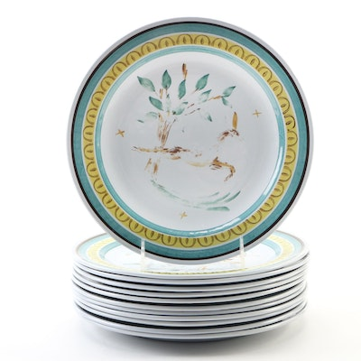 "Arabia of Finland ""Deer"" Porcelain Dinner Plates"