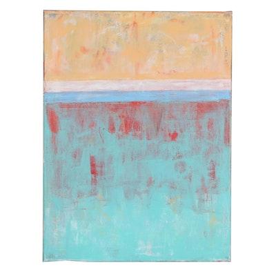"""Sanna Abstract Acrylic Painting """"Shifting Colors"""", 2020"""