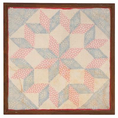 "Handmade ""Carpenter's Star"" Quilt Block"