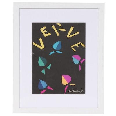 """Henri Matisse Lithograph Cover for """"Verve"""", """"La Symphonie Chromatique"""", 1940"""