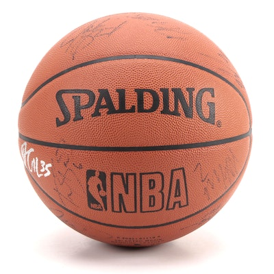 "Brooklyn Nets Signed Spalding NBA ""Official Game Ball"""