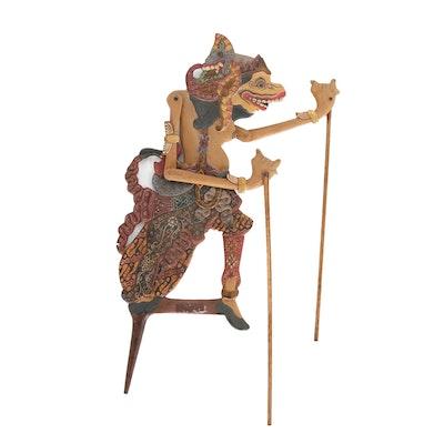 Indonesian Wayang Klitik Shadow Puppet