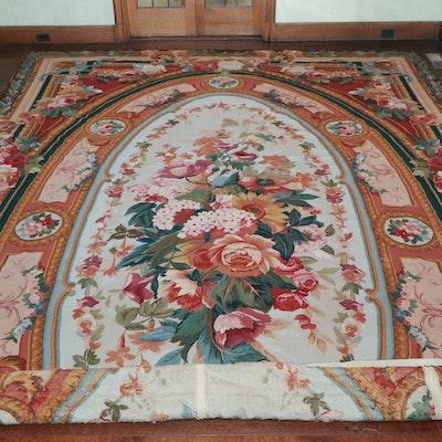 10' 10 x 18' 4 Handmade Victorian Style Needlepoint Wool Area Rug