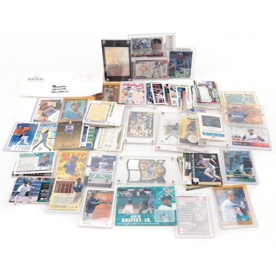 (HOF) Ken Griffey Jr. Signed Baseball Cards with Rookie and More