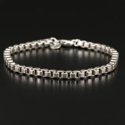 "Tiffany & Co. ""Venetian"" Sterling Silver Box Chain Bracelet"