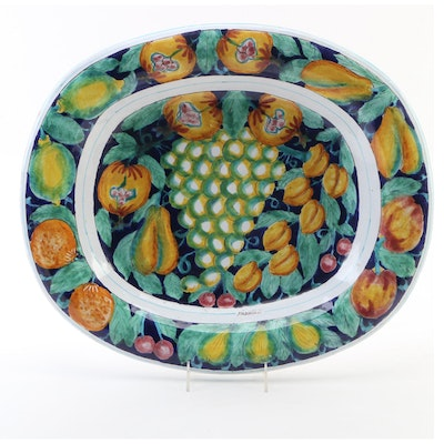 Ceramiche Parrini Hand Painted Decorative Platter, 21st Century