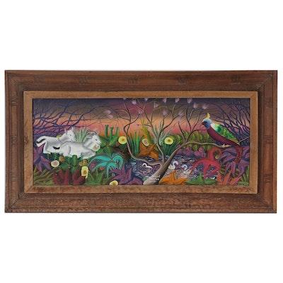Daniel Gerelus Fantastical Landscape Oil Painting, 20th Century