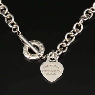 "Tiffany & Co. ""Return to Tiffany"" Sterling Silver Rolo Chain Necklace"