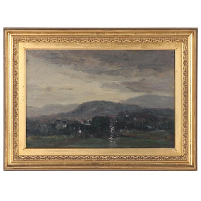 Impressionistic Landscape Oil Painting of Rolling Hills