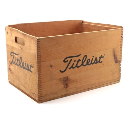 Dunning for Titleist Wooden Shipping Crate, Mid to Late 20th Century