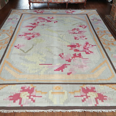 9' 9 x 12' 5 Handwoven Split Kilim Wool Area Rug