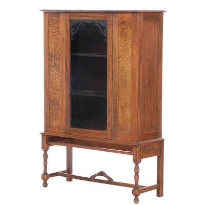 American Poplar and Bird's-Eye Maple-Veneered China Cabinet, circa 1930