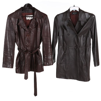 Women's XOE and Other Brown Leather Jackets