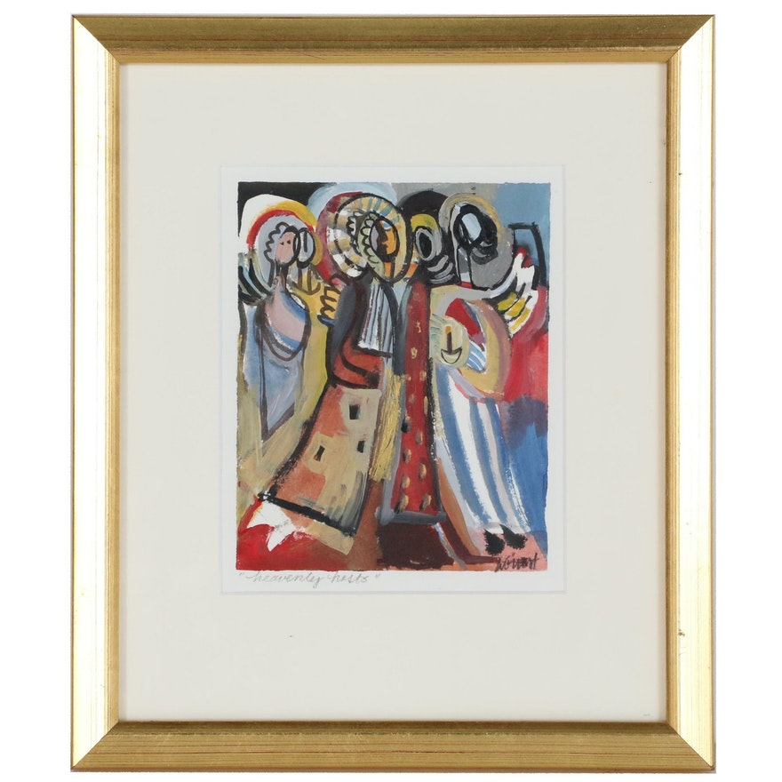 "Amy Giust Acrylic Painting ""Heavenly Hosts"""