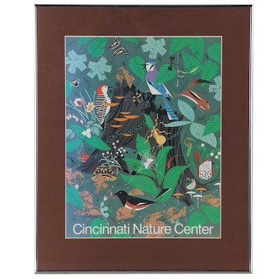 "Cincinnati Nature Center Poster after Charley Harper ""Woodland Wonders"", 1977"