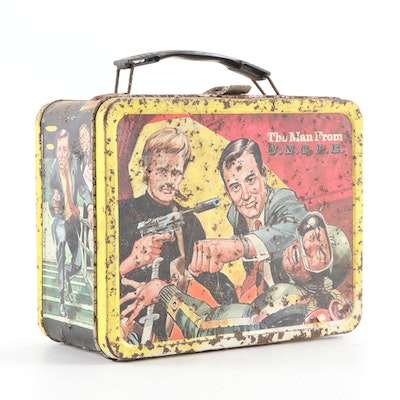 """King-Seely Thermos Co. """"The Man From U.N.C.L.E."""" Metal Lunchbox, 1966"""