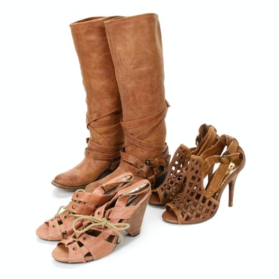 Steve Madden and Naughty Monkey Leather Sandals and Boots