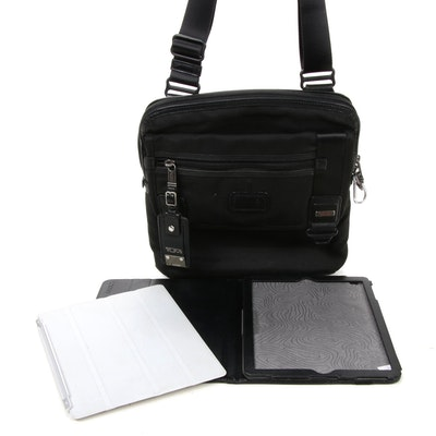Tumi Leather-Trimmed Bag and Incase Tablet Accessories