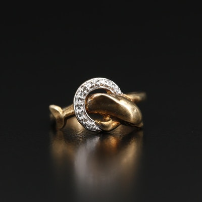 10K Diamond Dolphin Ring