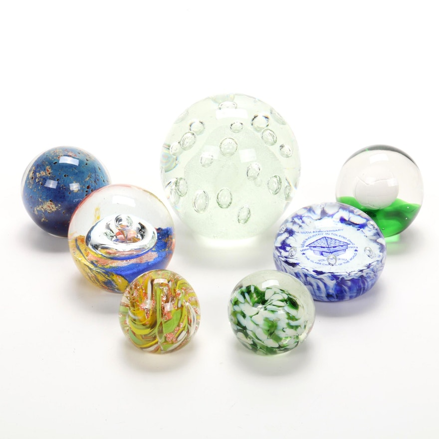 Art Glass Orbs, Mid to Late 20th Century